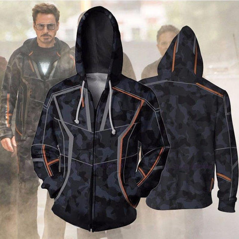 Avengers Hoodies - Endgame Quantum Suit Cosplay Zip Up Hoodie