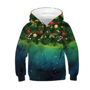 Children's Santa Claus Digital Print Hoodie