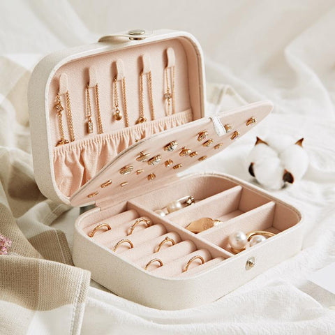 Necklace Earrings Ring Multi-function Jewelry Storage Box
