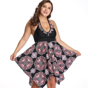 Super Large Size Skirt Type Swimsuit 2XL-6XL