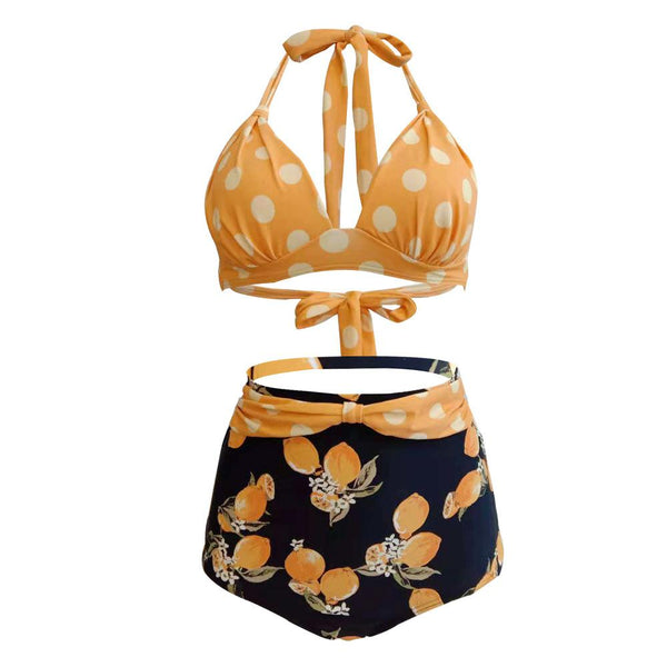 Large Size S-3XL Backless Sexy Bikini High Waist Strap Swimsuit