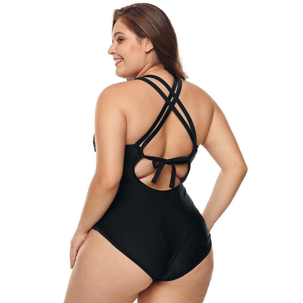 Twist Front Plus Size Plunge Swimwear