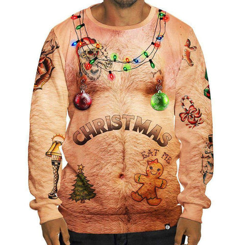 3D Digital Printed Christmas Men's Long Sleeve Sweatshirt