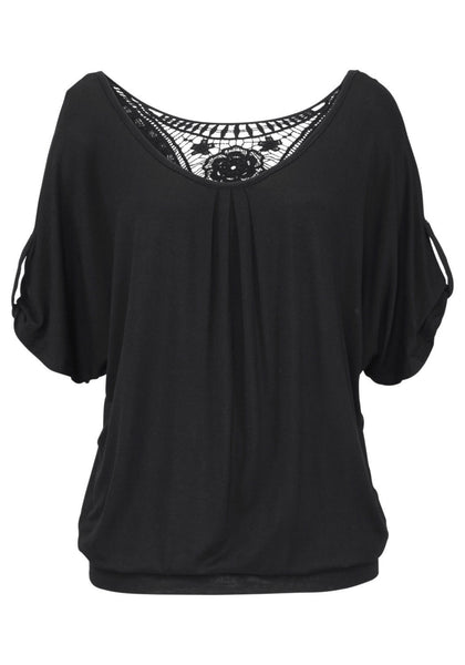 Summer Casual o-Neck Lace Top