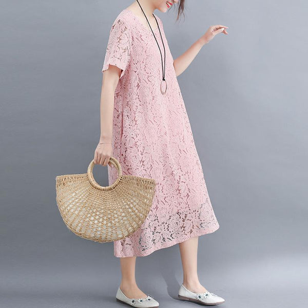 Large Dress Lace Loose Long  Dress
