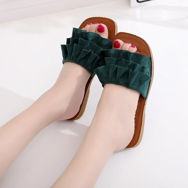 Lotus Leaf Soft Bottom Slippers Beach Slippers
