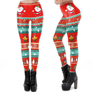 Women's Christmas Print Tights Leggings
