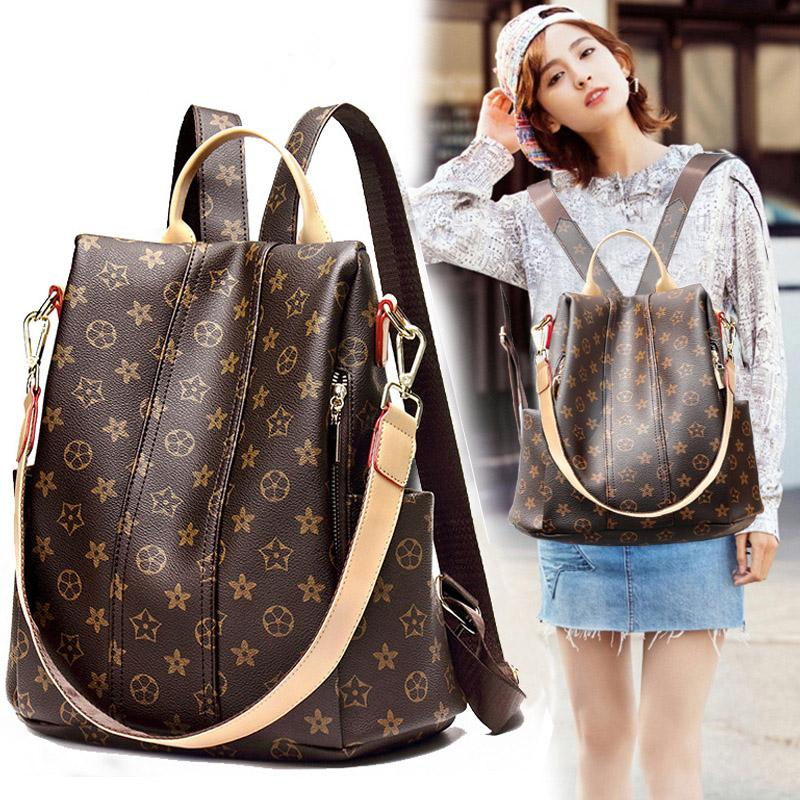 Fashion Women Backpack New Wild Dual-use Printing Anti-theft Backpack Travel Bag