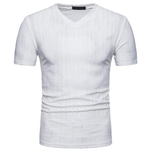 Men's Large Size Solid Color Short Sleeve T-Shirt