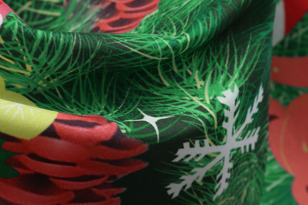 Christmas Tree Print Vintage Dress
