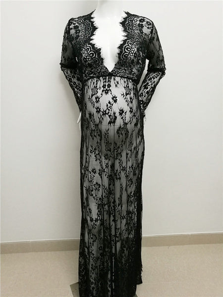 Maxi Maternity gown Lace Maternity Dress -Plus