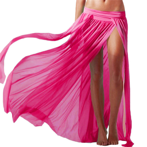 Women Sexy Chiffon Summer Beach Dress Cover Up