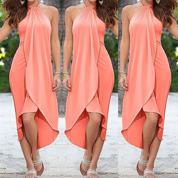 Chiffon Summer Sexy Boho Long Maxi Dress