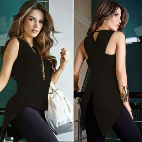 Cross Irregular Ladies Casual Tops