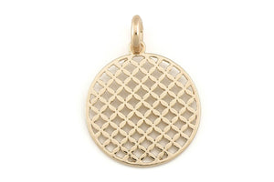 Lattice Circle Pendant 45 x 60 mm