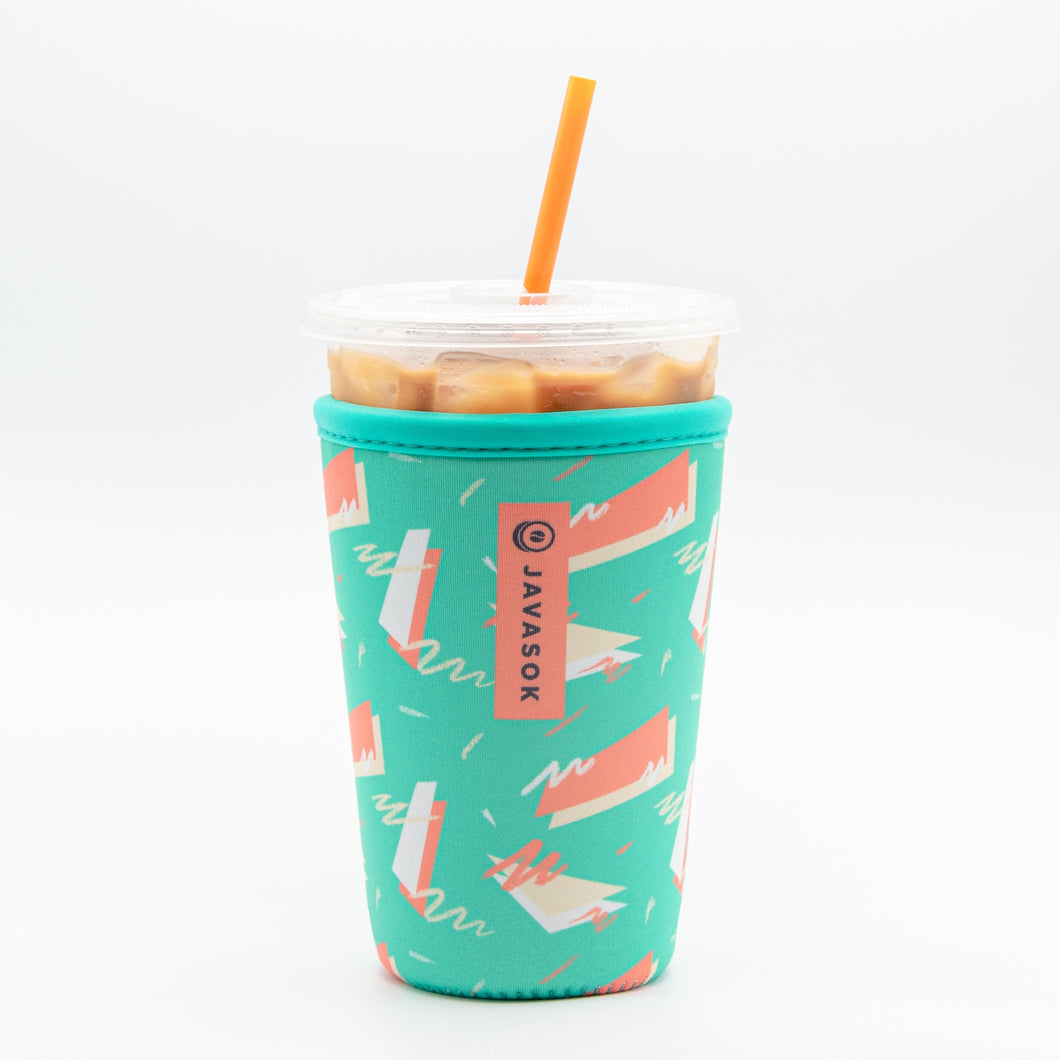 80's Geometric Cold Beverage Sleeve Medium (22-28 oz)