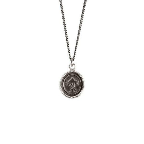 Sterling Silver 18'' Necklace- Stay Present