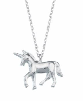 Unicorn Necklace Silver Plated