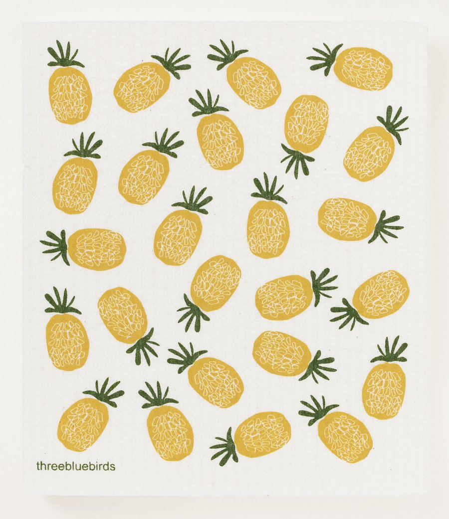 Pineapples Swedish Dishcloth
