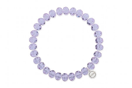 Clarksville Bracelet  Lilac Shadow Crystal 8 mm