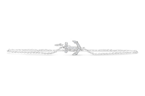 Sterling Silver Anklet- Anchor