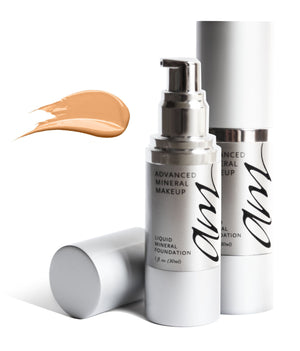 Open image in slideshow, Advanced Mineral Makeup Liquid Mineral Foundation (3 Shades Available)