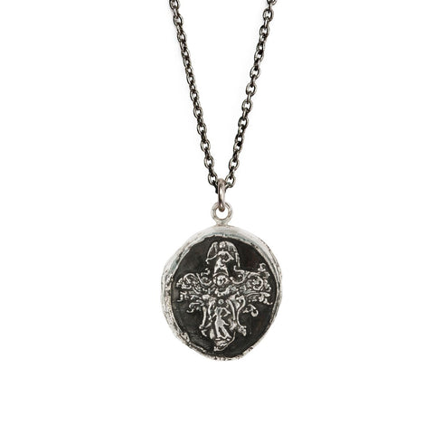 Sterling Silver 18'' Necklace- Angels
