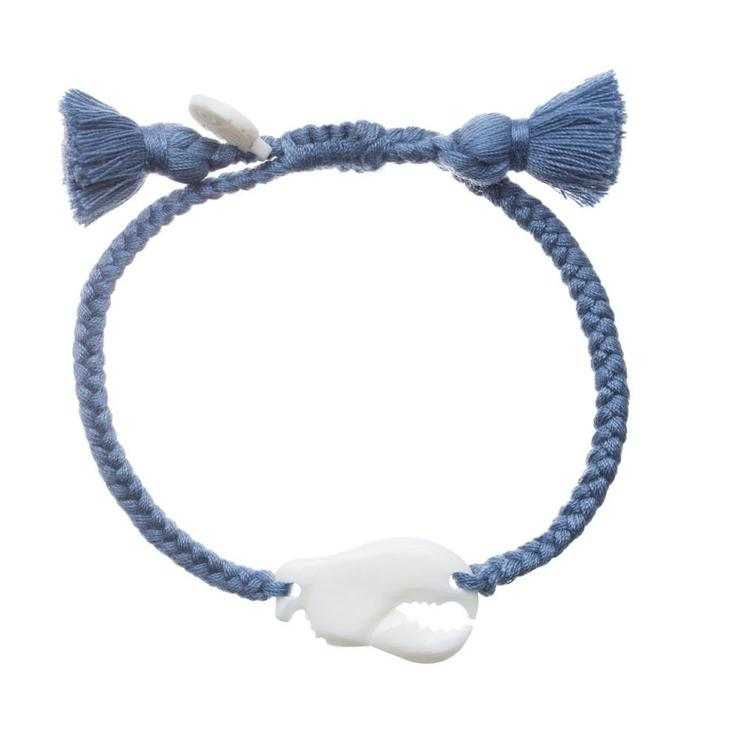 Lobster Claw Tassel Bracelet Blue