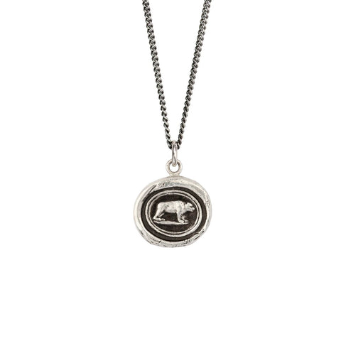 Sterling Silver 18'' Necklace- Mother Bear