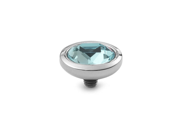 Interchangeable Top Piave 9x11 mm Stainless Steel Silver Swarovski  Light Azore
