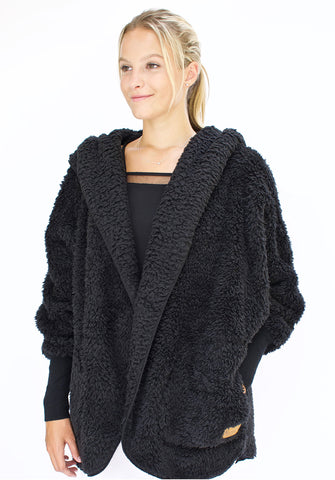 Nordic Beach Plush Wrap Black Licorice