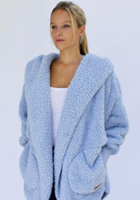 Load image into Gallery viewer, Nordic Beach Plush Wrap Cashmere Blue