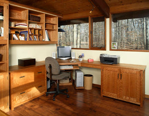 Office Built-Ins by Hardwood Artisans feature elegant organizational and display solutions and designs near Alexandria VA
