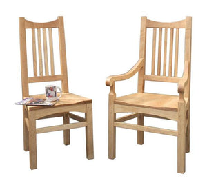 Highland Arm and Side Chairs with Wooden seats in Maple