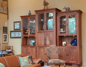Cabinet Case shown in Mahogany a Custom Furniture Design made-to-order just for you at Hardwood Artisans near Loudoun VA
