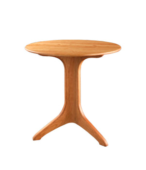 Custom Dining Round Bistro Table in Natural Cherry