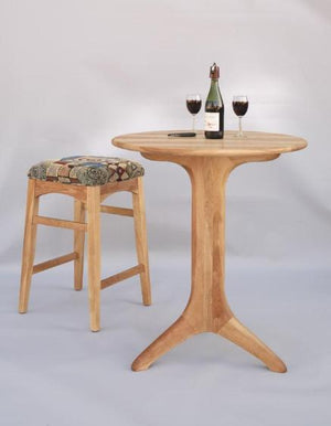 Artisan Stool shown with Round Bistro Table in Birch Made in America available in Virginia, near Maryland and Washington DC