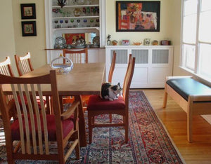 Highland Table featured w/ Artisan Chairs and Window Bench in Natural Cherry with Contrasting Accents in kitchen/dining area
