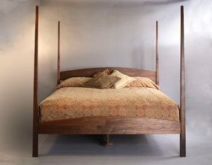 Custom Bedroom Furniture featuring Tester Bed in Walnut quality hardwood made in the USA by Hardwood Artisans Fredericksburg