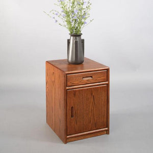 Contemporary Nightstand, Optional Door in assorted hardwoods, is a modern bedroom furniture cabinet style near Chantilly VA