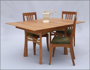 Small Waterfall Table and Middleburg Chairs in Natural Cherry, Kitchen & Dining Room Furniture and Seating Made in Virginia