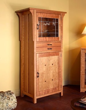 Craftsman Wine Cabinet in Natural Cherry by Hardwood Artisans a bespoke furniture maker in Virginia, Maryland & Washington DC