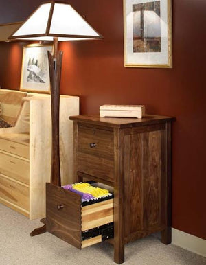 Craftsman 2-Drawer Deskmate in Walnut, heirloom quality office furniture, crafted w/ Amish joinery techniques near Bowie, MD
