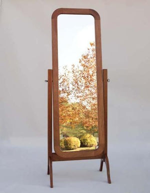 Cheval Mirror in Mahogany is a free standing tilting heirloom style piece of bedroom furniture or accent mirror near Leesburg