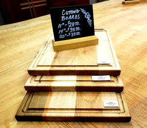 Cutting Boards handmade with hardwoods in assorted sizes for kitchen accessory or gift made in Virginia at Hardwood Artisans
