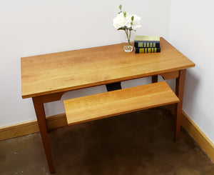 Small Table Desk office furniture in cherry, mahogany, walnut, birch, maple, curly maple, red or 1/4-sawn white oak hardwoods