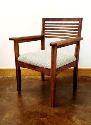 Beehive Chair (side or arm chair) demonstrates Quality Comfortable Solid Hardwood Furniture handcrafted at Hardwood Artisans