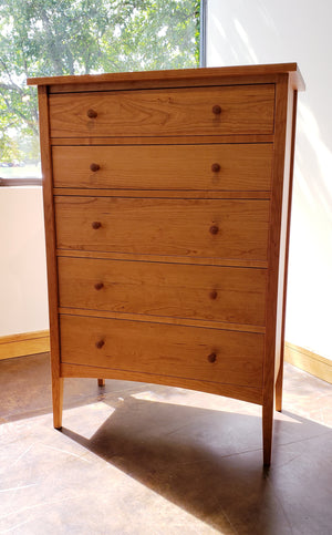 Modern Shaker 5-Drawer Tall Chest