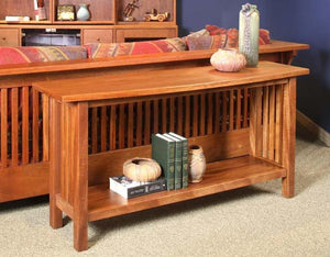 Crofters Sofa Table w/ lower shelf in Mahogany by Hardwood Artisans an American bespoke furniture maker in Culpeper County VA