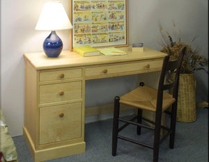 Small Shaker Desk in Maple with Custom Handles